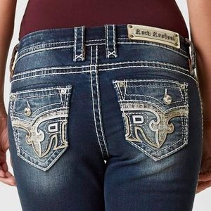 Rock Revival sundee easy straight jeans size 27